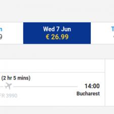 Bologna - Bucuresti - 7 iunie - 27 euro