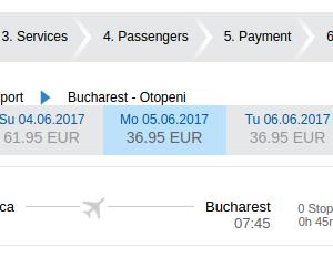 Cluj - Bucuresti - 5 si 6 - 37 euro