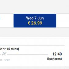 Milano - Bucuresti - 7 iunie - 27 euro